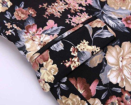 Blazer 1 Button Floral Coat Cotton MOGU Sport Jacket Men's Pink 5vFqxxwPX