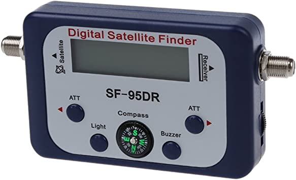 SODIAL(R) Digital LCD Buscador medidor de senal de satelite Directv Dish con Brujula FAT SF-95DR