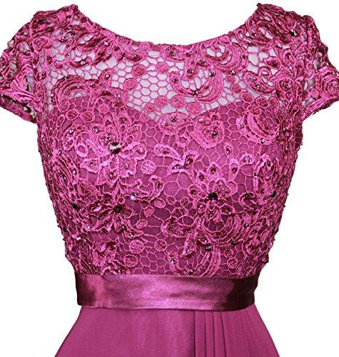 Embroidery Short Sleeve Dress Bride of Eggplant Women's Evening Meier Rhinestoned Mother x5Bttw