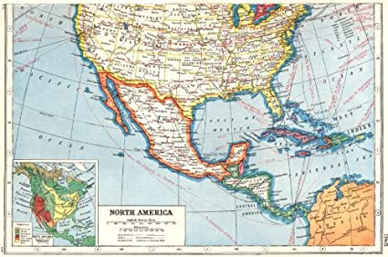 Amazon.com: NORTH AMERICA. Southern United States & Mexico ...