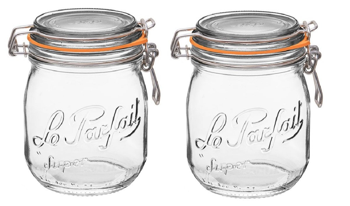 Le Parfait French Super Jar with 85mm Gasket and Lid .75 Liter (Pack of 2)