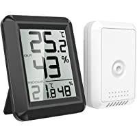 AMIR Digital Hygrometer Indoor Outdoor Thermometer, Humidity Monitor with Temperature Humidity Gauge, Wireless Outdoor…