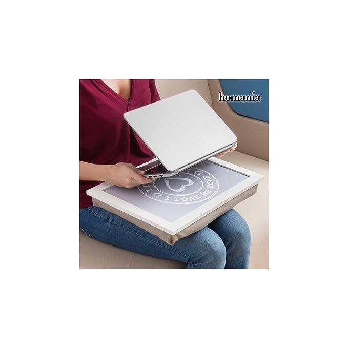 Bandeja-Cojín para Portátil y Tablet I Love My Home by Homania: Amazon.es: Jardín
