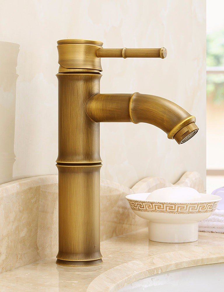 SCLOTHS Bathroom Basin Sink Mixer Tap Modern,simple,retro,copper,gold,hot and cold faucet,single hole,S-1105