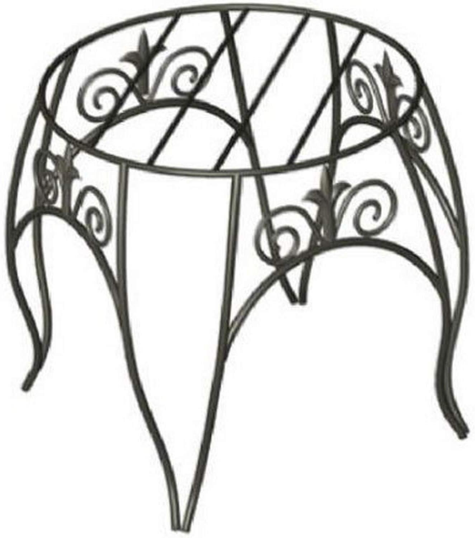 Noir Panacea 89174/Fleuron Classique Support de Plante 25,4/cm Hauteur