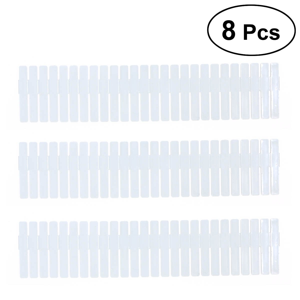 OUNONA DIY Plastic Drawer Organizer Dividers for Dresser Storage Household StoraCloset Makeup Socks Underwear Scarves Home Tidy 32.2 x 7cm 8PCS (Sky-blue)