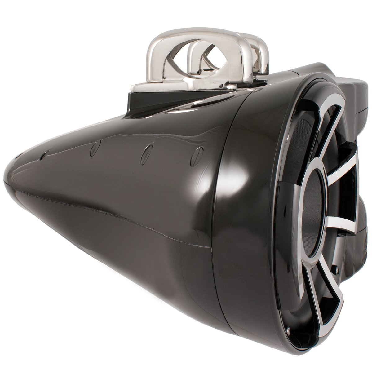 Wet Sounds Revolution Series Dual 10 inch EFG HLCD Tower Speaker - Black w/ Fixed Clamp by Wet Sounds (Image #2)