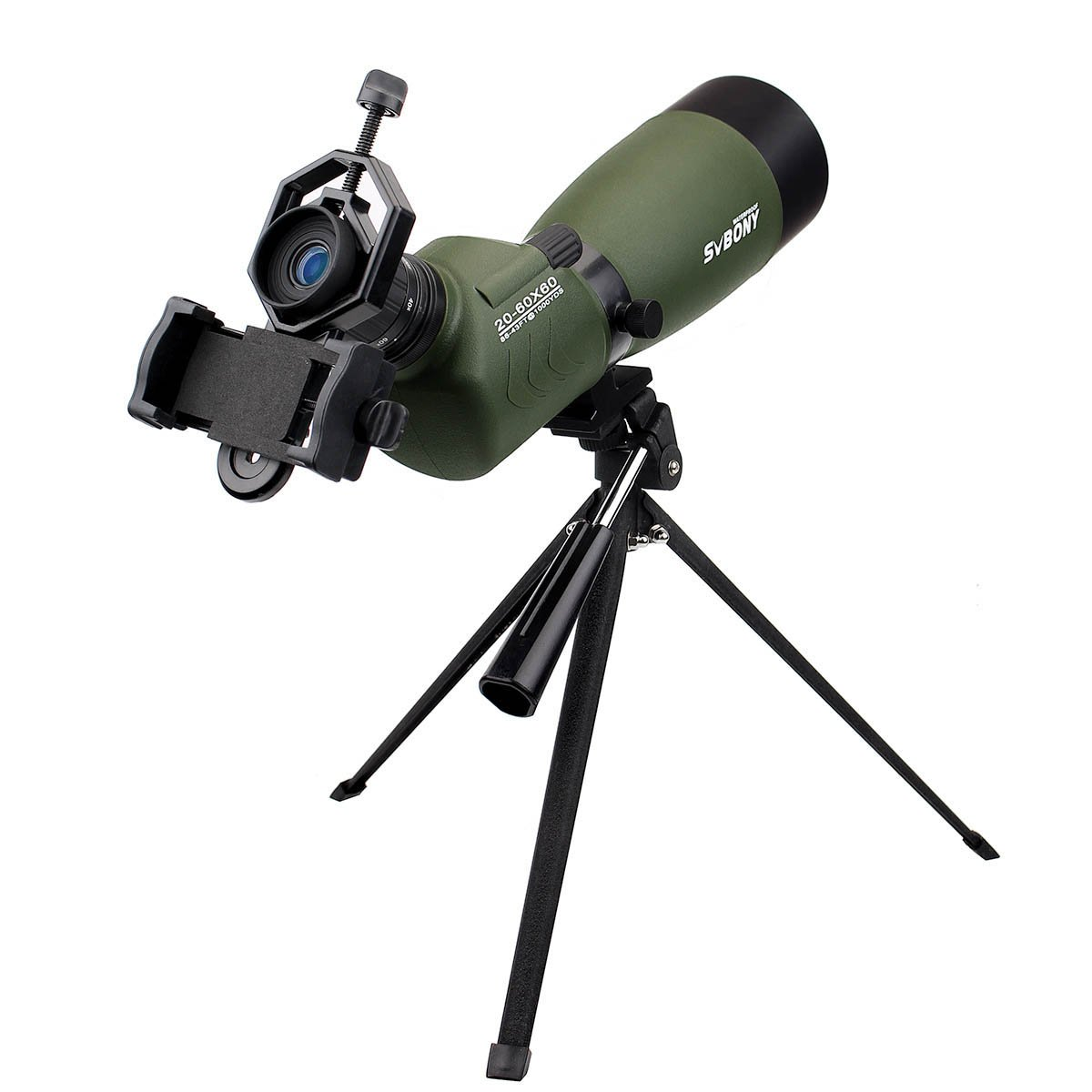 SVBONY 20-60x60/25-75x70mm Shooting Spotting Scope Bak4 Prism Spotting Scope Telescope IP65 Waterproof FMC Optical Lens with Tripod and Phone Adapter by SVBONY