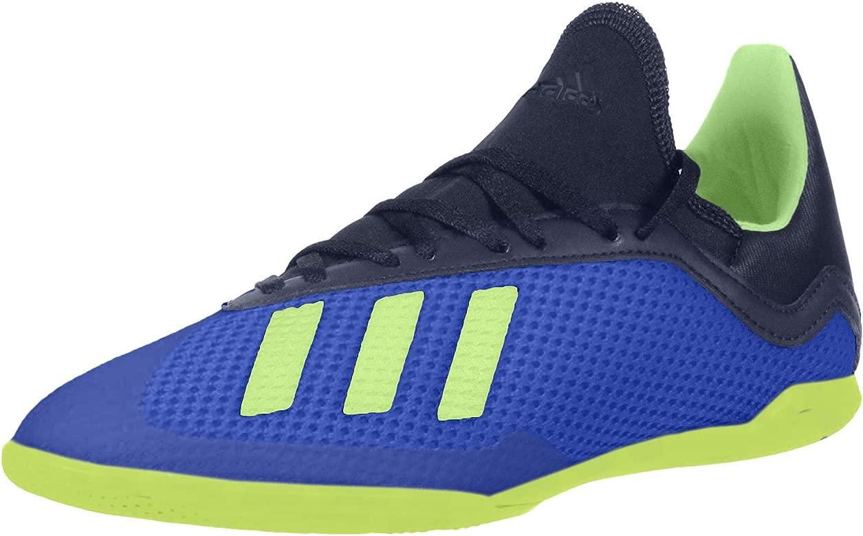 Adidas Kid/'s X TANGO 18.3 INDOOR J SOCCER Shoes Football Blue//Green DB2425 c