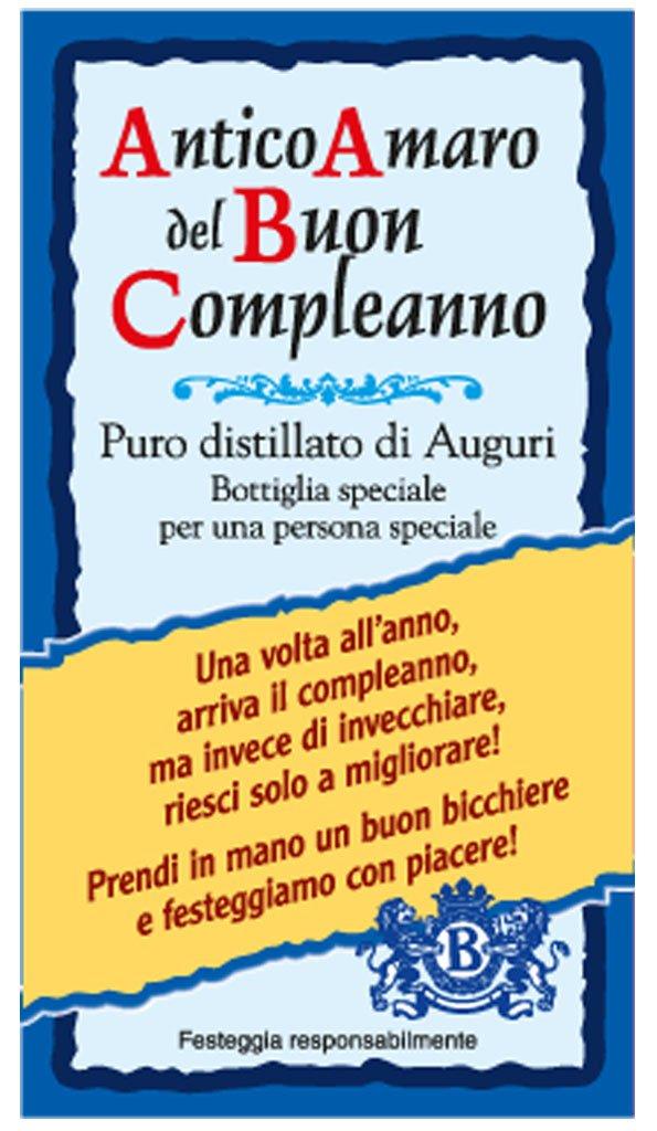 Famoso T-shirt in bottiglia Amaro del Buon Compleanno.: Amazon.it: Giochi  VW71