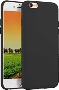 Compatible with iPhone 6 and iPhone 6s 4.7-Inch Case,Soft TPU Slim Thin Durable Anti-Scratch Shock-Absorption Resistant Shield Cell Mobile Phone Cover Case for Girls Women Man Boys,Black