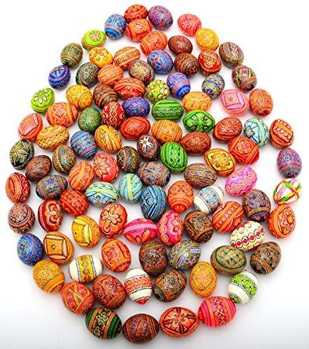 Easter Painted Eggs Wooden Ukrainian Pysanky Pysanka, Set of 200 by Unknown