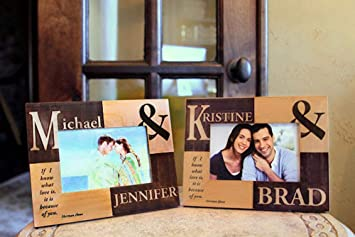 Amazoncom Qualtry Personalized Wedding Picture Frames With