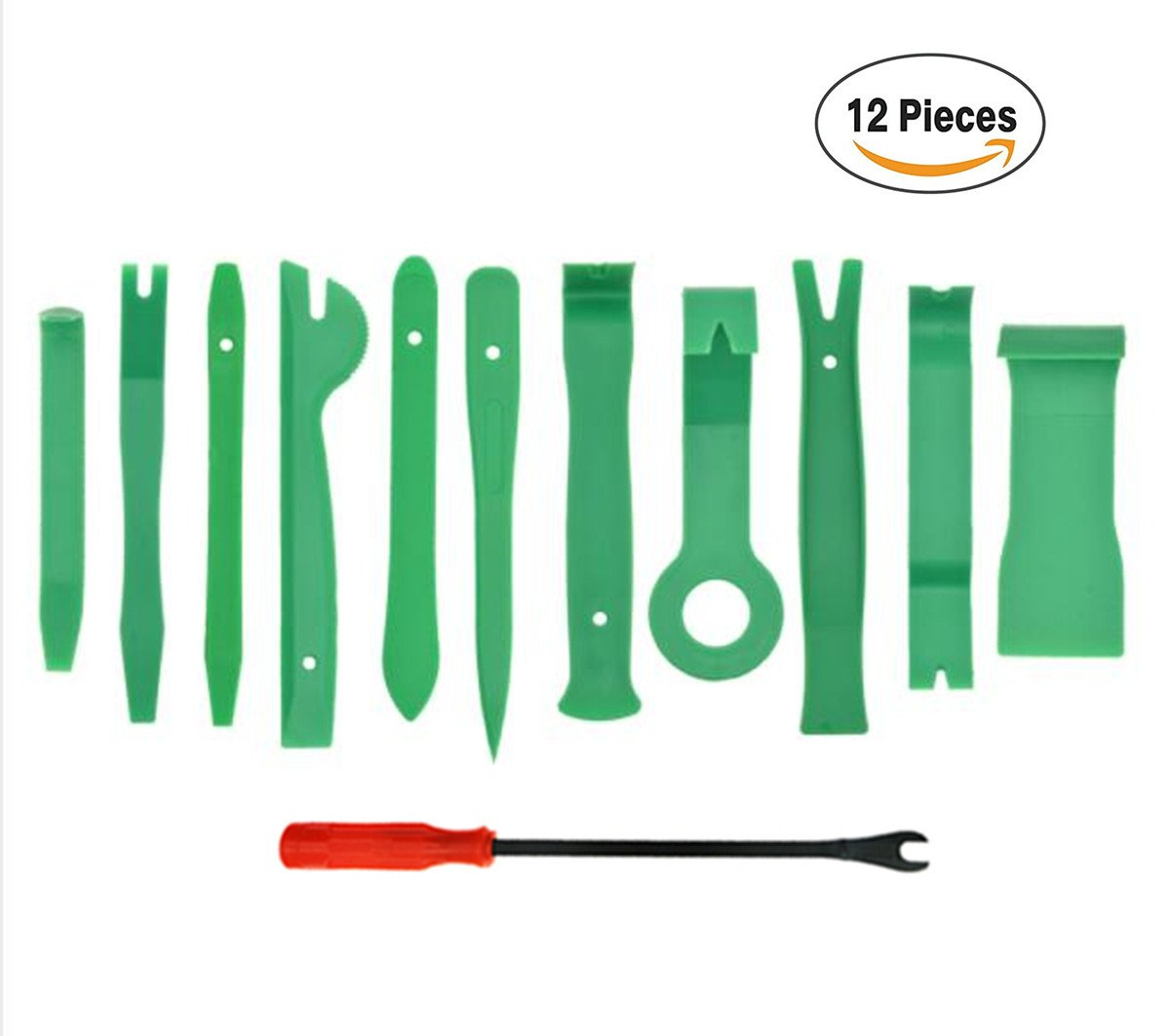 JBBERTH 12pcs Auto Trim Removal Tools Kit, Car Repair Tool for Audio/Radio/ CD/GPS/ Door Disassembly Clip Clamp Trim Dashboard Removal Toolkit