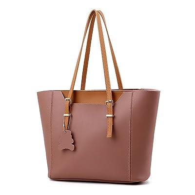 KOON Womens PU Fashion Wild Shopping Bag Large Capacity Shoulder Crossbody Bag Tote