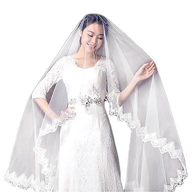 48ff19a28e Yean - Velo de novia - Mujer (Weiß) Talla única  Amazon.es  Ropa y  accesorios