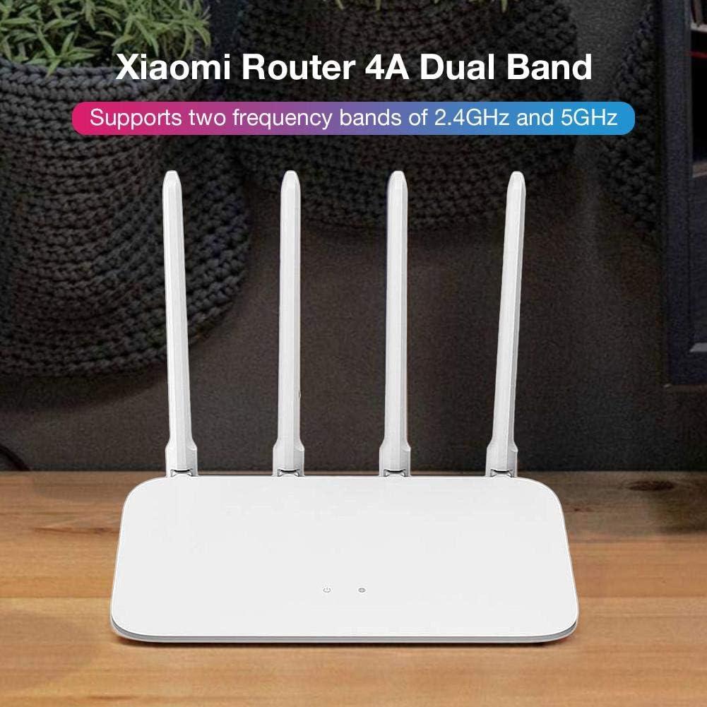 jinclonder Xiaomi Router 4A WiFi inalámbrico 2.4GHz 5GHz Banda Dual 1167Mbps WiFi Repeater 4 Antenas de Alta Ganancia 64MB Memoria App Control ...