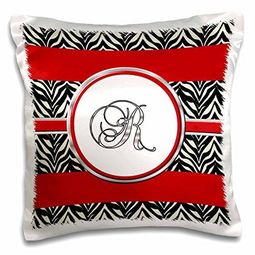 3dRose pc_180713_1 Elegant Red Black Zebra Animal Print M...