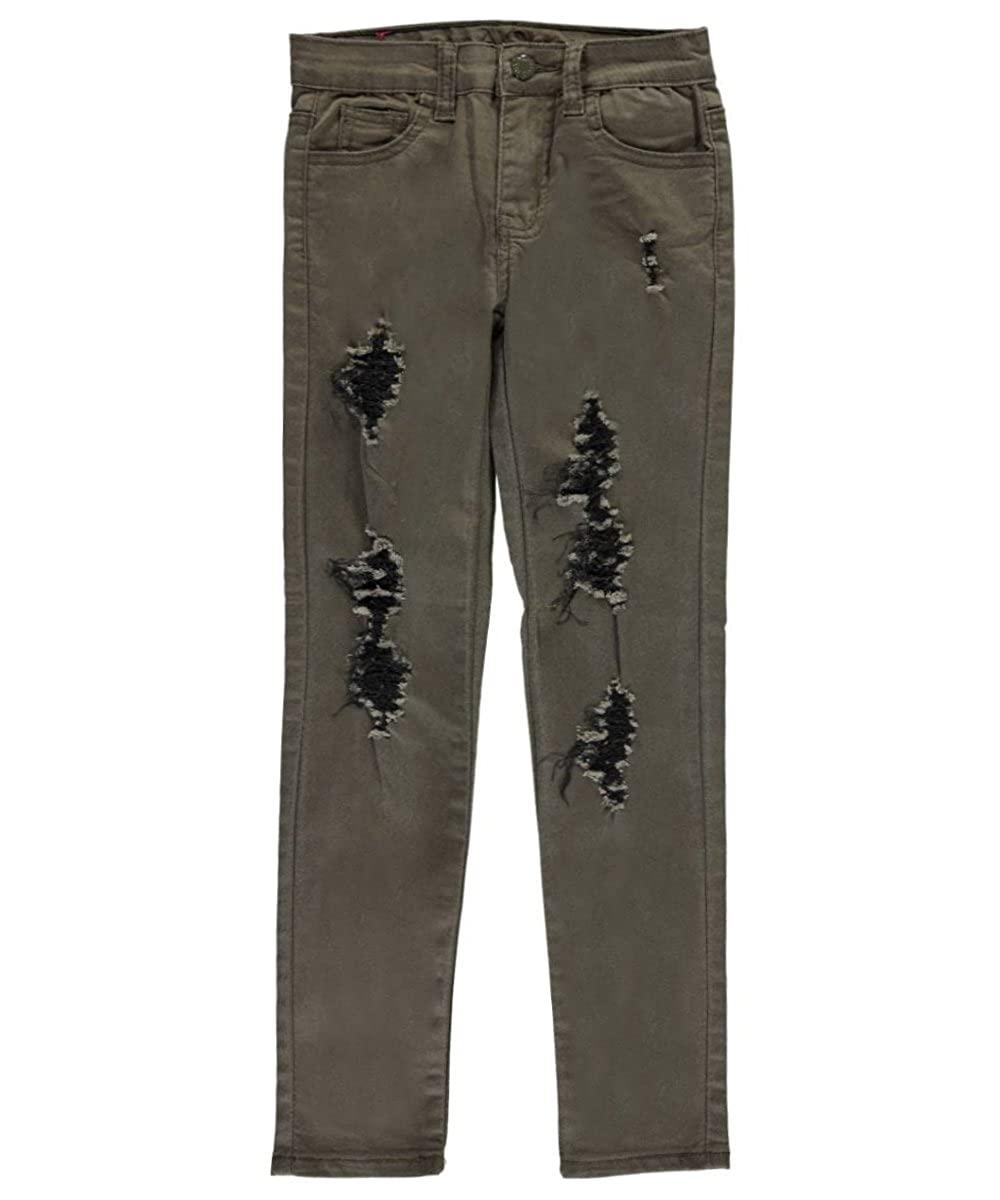 AQ Big Girls' Contrast Rips Skinny Pants 10