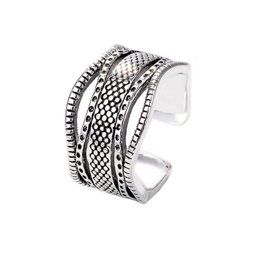 Outflower 1pcs Retro anello di personalità anello onda dot anello aperto anello femminile moda festa gioielli regalo di compleanno