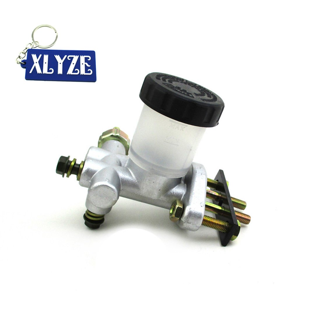 XLYZE Rear Master Cylinder for 90cc 110cc 125cc 150cc 200cc 250cc Kandi BMS Roketa Kinroad Kazuma Go Kart Dune Buggy JCL Sunl