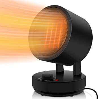 COMLIFE 1500/900W Portable Electric Oscillating Space Heater
