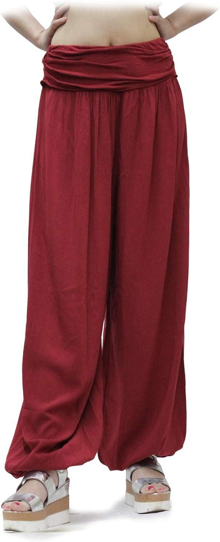 GLOMY Pantalon Large pour Femmes de Style Sarouel pour Les Sports de Yoga