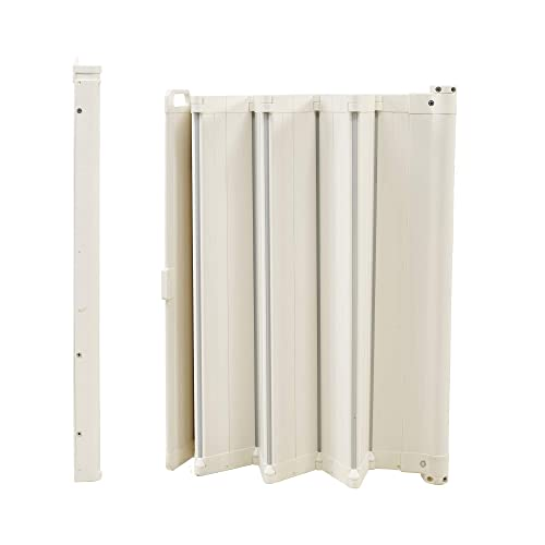 BabyDan Guard Me 25.4-36 Inch Wide Wall Mount Doorway Auto Foldable Retractable Safety Baby Gate, White