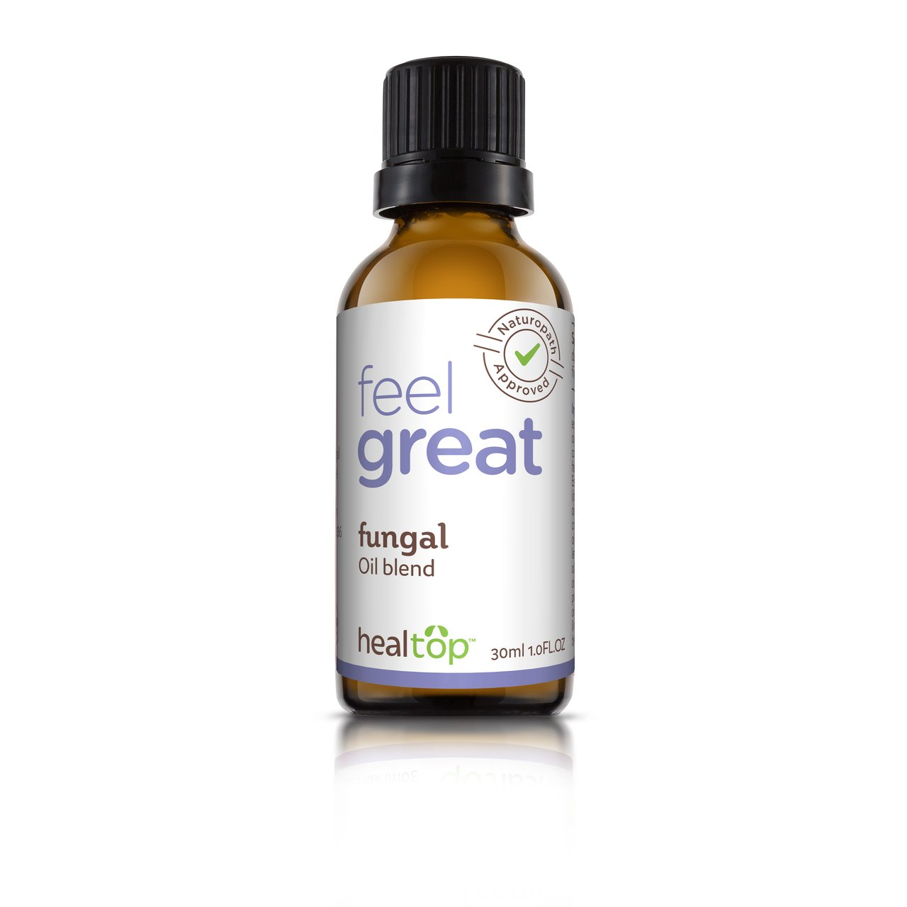 Healtop Fungal 17 Natural Effective Ingredients Oil Bland Antifungal Athlete Foot Care 1 FL OZ - Make Foots Happy