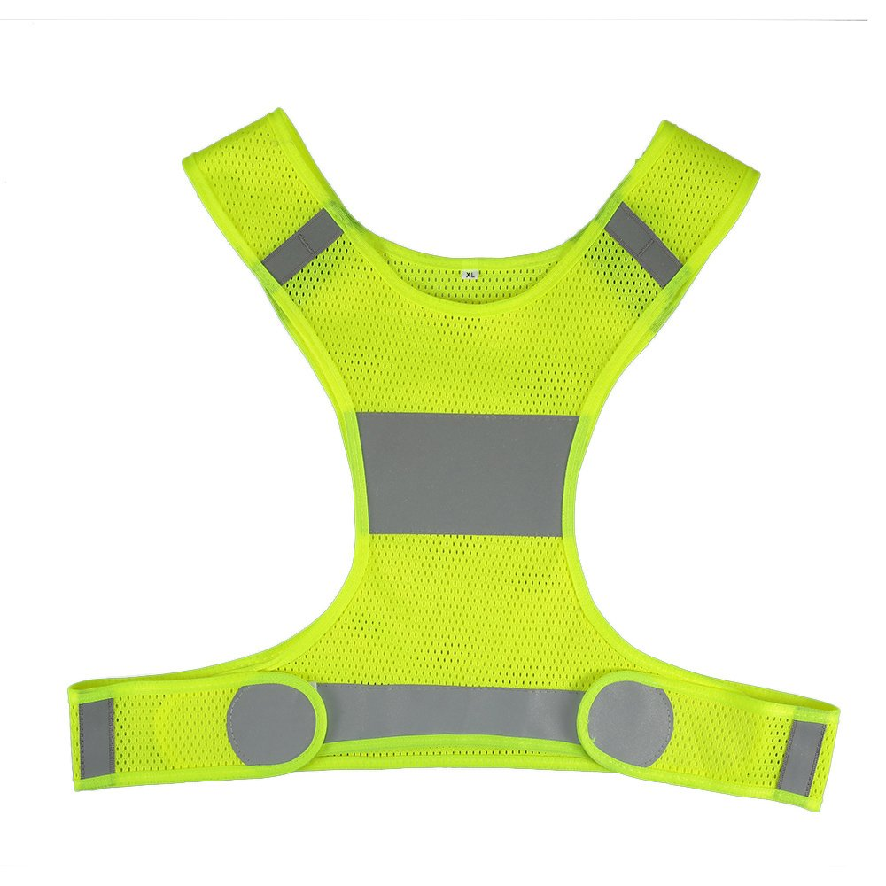 Docooler Lightweight Reflective Vest Safety Vest for Men & Women Outdoor Running Cycling