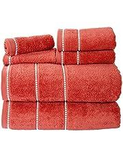Lavish Home Quick Dry 100Percent Cotton Zero Twist 6Piece Towel Set - White