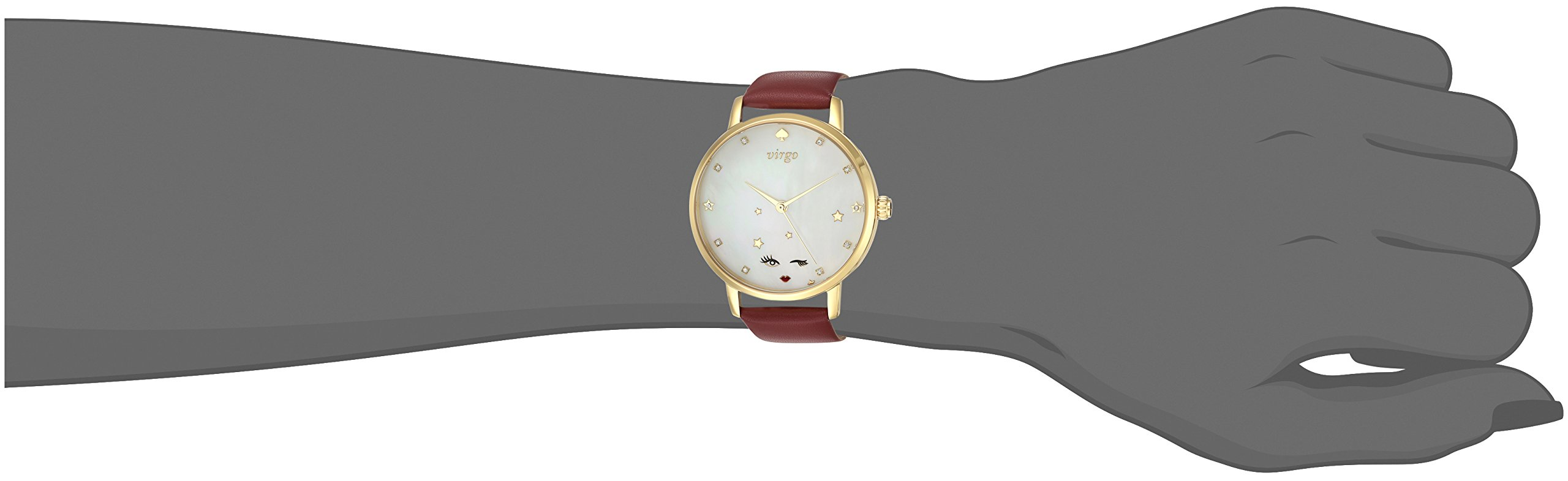 kate spade new york Women's 'Metro' Quartz Stainless Steel and Leather Casual Watch, Color:Red (Model: KSW1189) by Kate Spade New York (Image #2)