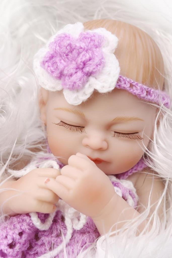 Amazon.com: Full Body Silicone Lifelike Sleeping Girl Baby Reborn Mini Doll  Kids Toy Gifts,10 Inch By NPK: Toys U0026 Games