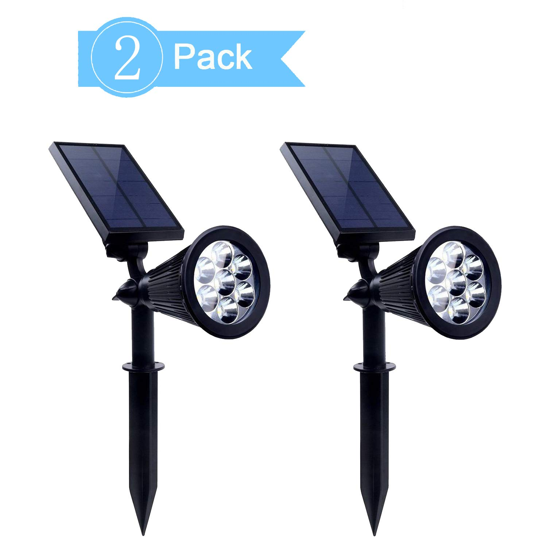 NeillieN Solar Spotlight Lamp, 2 in 1 Garden Spotlight, 7 LED Waterproof Backyard Patio Lights, Outdoor Wall/Landscape Lights with 2 Modes (2pcs Set) (Solar Spotlight Lamp) by NeillieN