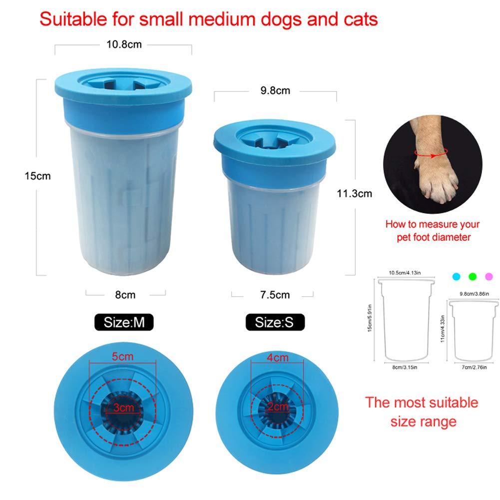 Facile da Usare per Pulizia Zampe XDYFF Pulitore Zampe Cane Dog Paw Cleaner in Silicone con nodini in Silicone Morbido