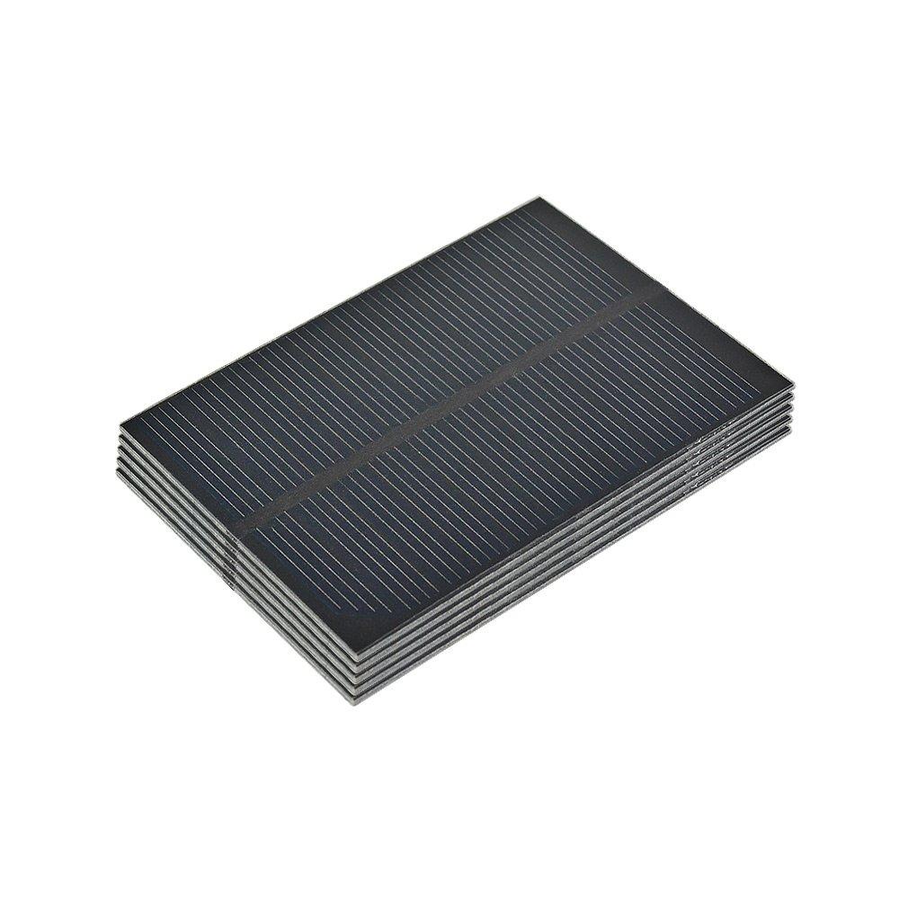 AIYIMA 5Pcs Monocrystalline Solar Panels 5.5V Micro Solar cell Sun Power Regulator Solar DIY Solar System 61x84mm