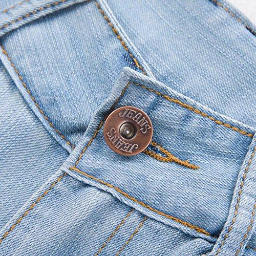 Zampa Alta Vintage Lavaggio A Forti Jeans Vita Taglie Zhuikuna Donna Azzurro Chiaro 7fWIEqww