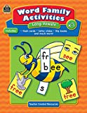 Word Family Activities: Long Vowels Grd K-1