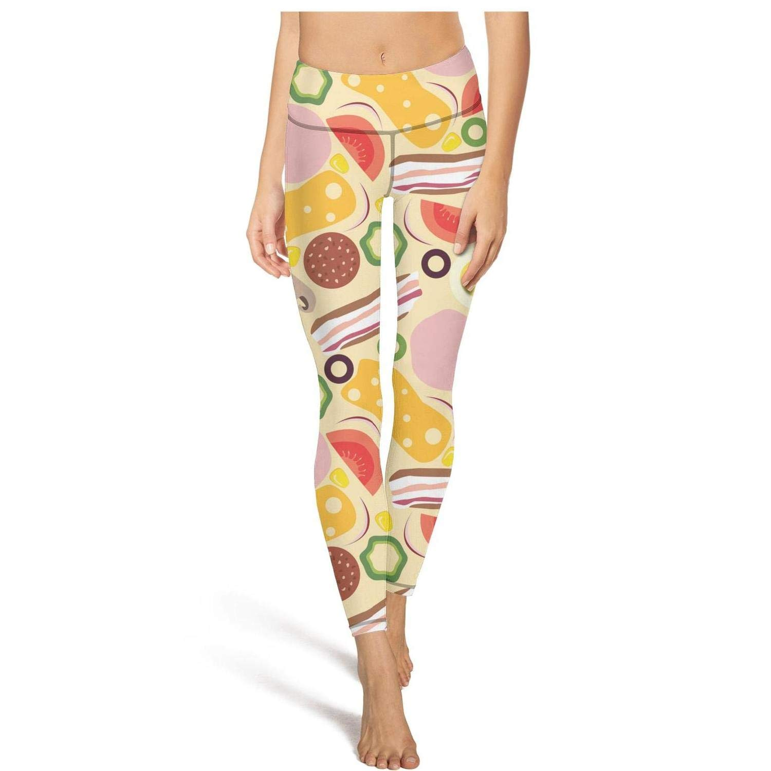 Planet Star Late Night New York Pizza Women Yoga Pants ...