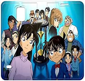 Premium Flip Ultra Slim Detective Conan-21 iPhone Samsung Galaxy S5 Leather Flip Case