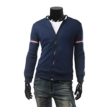 Hombre camisa manga larga Otoño,Sonnena ❤ Camisetas de manga larga con cremallera masculina