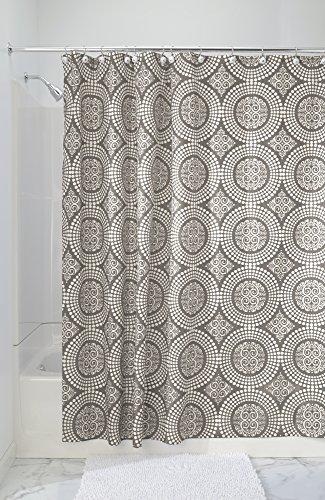 Chic MDesign Medallion Fabric Shower Curtain