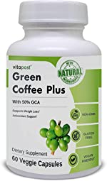 Green Coffee Plus   Premium Green Coffee Bean Extract. Supports Weight