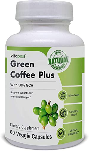 Green Coffee Plus   Premium Green Coffee Bean Extract. Supports Weight Loss, Rich in Antioxidants. Non-GMO, Vegan, & Gluten Free. 60 Capsules