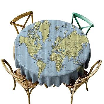 Amazon com: Indoor/Outdoor Round Tablecloth High School