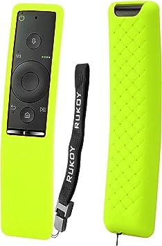 Rukoy Funda Protectora de Silicona Compatible para Samsung Smart TV Control Remoto de BN59-01241A/BN59-01242A/BN59-01260A, Anti-Slip Amigable para los niños Anti-perdida con Correa Mano: Amazon.es: Electrónica