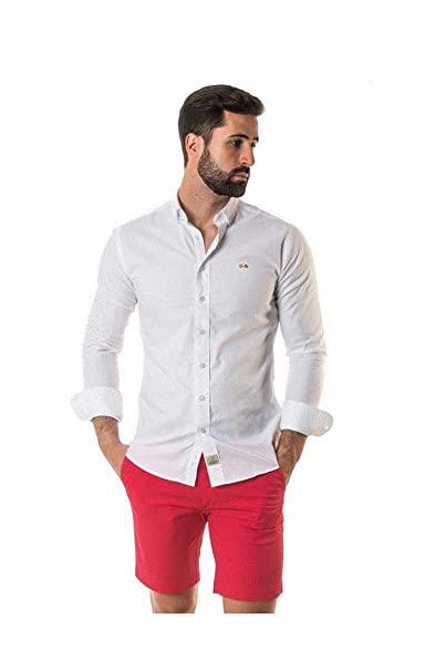 SPAGNOLO PAUL & ESTHER Camisa Cuello Boton Basica Fil A Fil 0068 ...