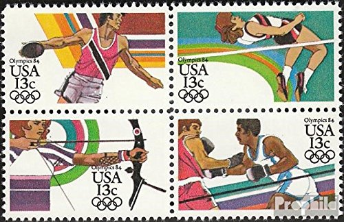 U.S. 1644-1647 block of four (complete.issue.) unmounted mint / never hinged 1983 Olympics Summer ´84 (Stamps for collectors)