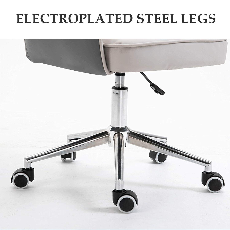PU-läder kontorsstol ergonomisk skrivbordsstol bekväm mellanrygg datorstol korsryggsstöd justerbar höjd svängbar stol gRÖN