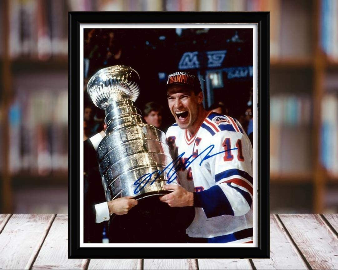 Mark Messier - Cup Champion - Autograph Replica Print - Desktop 8x10 - New York Rangers